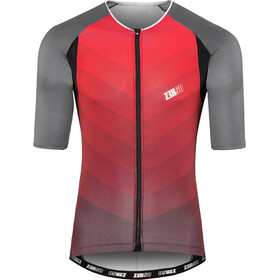 Z3R0D Racer Time Trial Tri Singlet Heren, grey/red